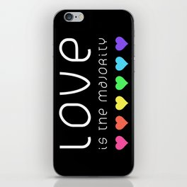Love Is The Majority (Color) iPhone Skin