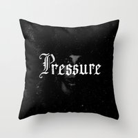 cabin pressure Throw Pillows featuring Pressure by Josh LaFayette