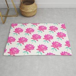 Sacred Lotus Blossom – Pink & Mint Rug