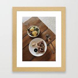 I Love Breakfast Framed Art Print