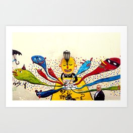 THE WALL OF HAPPINESS  Art Print
