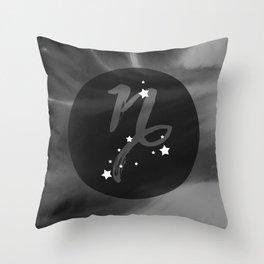 Capricorn Zodiac Watercolor Throw Pillow