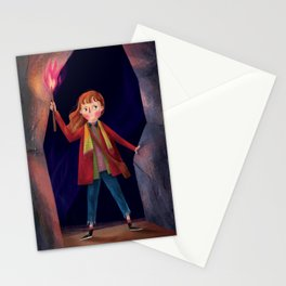 a girl with the power Stationery Cards