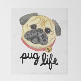 Pug Life Throw Blanket