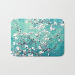 Vincent Van Gogh Almond Blossoms Turquoise Bath Mat