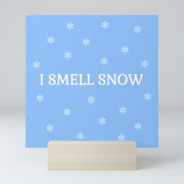 The Snow Lover Mini Art Print