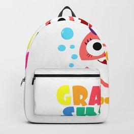 Grammy Shark T-Shirt Doo Doo Funny Baby Mommy Kids T-Shirt Backpack