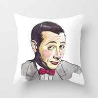pee wee Throw Pillows featuring Pee Wee by Jesse Robinson Williams