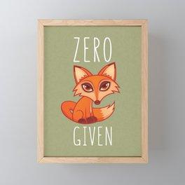 Zero Fox Given Framed Mini Art Print