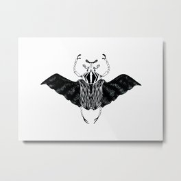Beetle #2 B&W Metal Print