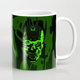 Gamer Skull CARTOON GREEN / 3D render of cyborg head Coffee Mug