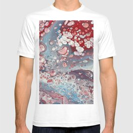 Red and blue T-shirt