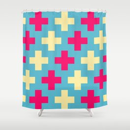 Pink Crosses Shower Curtain