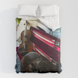 The Cat and the Fiddle (Gracie Queen of Chicago Collection) Comforters