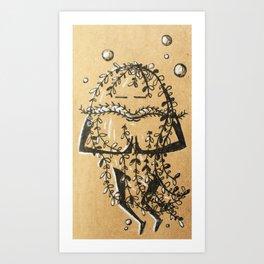 Namaste Seaweed Art Print