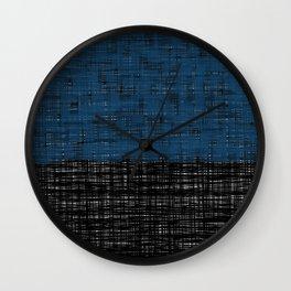 platno (blue) Wall Clock