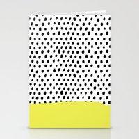 polka dot Stationery Cards featuring Polka dot rain dip by Maiko Nagao