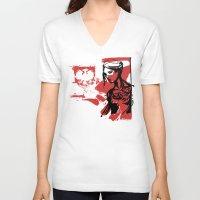 poland V-neck T-shirts featuring Poland by viva la revolucion