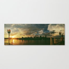 cincinnati sunset skyline Canvas Print