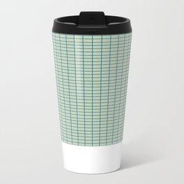 Grid Metal Travel Mug
