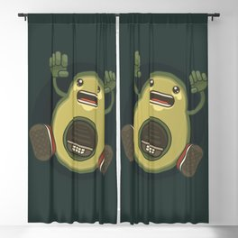 Alien avocado Blackout Curtain