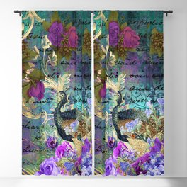 Feather peacock 22 Blackout Curtain