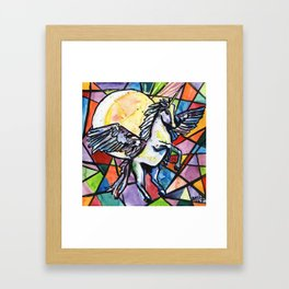Alacorn Magic Framed Art Print