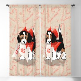 The Love Puppy — Love Letter Blackout Curtain