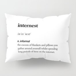 Internest black and white contemporary minimalism typography design home wall decor bedroom Pillow Sham