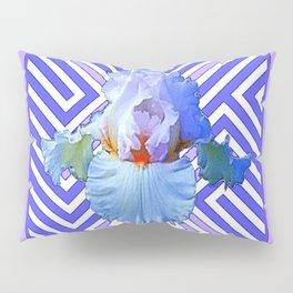 DECO LILAC PURPLE PASTEL IRIS PATTERN Pillow Sham