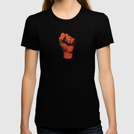 Chinese Flag on a Raised Clenched Fist T-shirt
