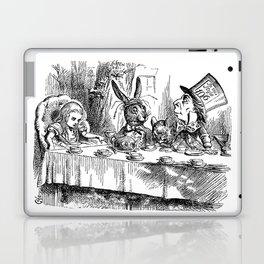 Vintage Alice in Wonderland Mad Hatter & rabbit tea party antique goth emo book gothic drawing print Laptop & iPad Skin