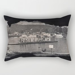 Launching the Boats Rectangular Pillow