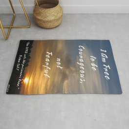 Be Courageous Rug