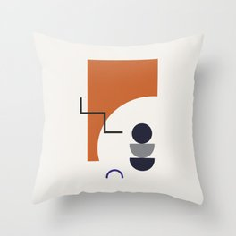 Abstract Shapes - Autumn Throw Pillow