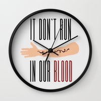 lorde Wall Clocks featuring It Don't Run in Our Blood - Royals by Lorde by Jesus Acosta