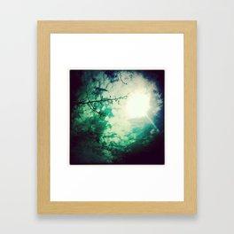 afternoon skies Framed Art Print