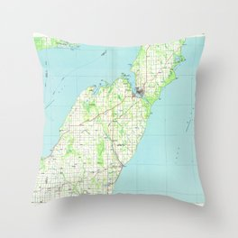 WI Sturgeon Bay 803117 1984 topographic map Throw Pillow