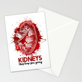 KIDNEYS: They Keep You Going Stationery Cards