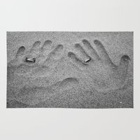 hands Area & Throw Rugs featuring Hands by Urlaub Photography