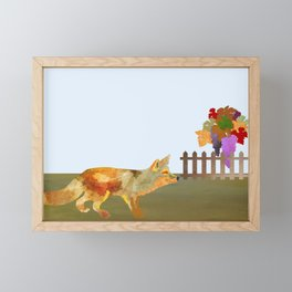 The Fox and the Vineyard Framed Mini Art Print