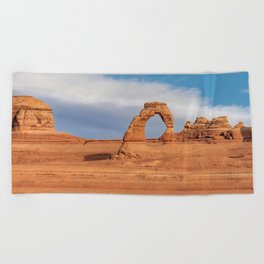 Delicate Arch 0415 - Arches National Park, Moab, Utah Beach Towel