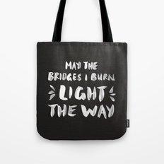 Burned Bridges – Black & White Tote Bag