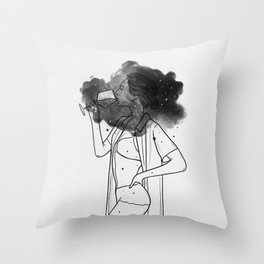 Breathing your soul. Throw Pillow
