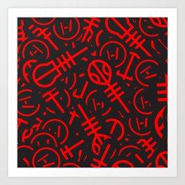 TØP Stickers - Red Art Print