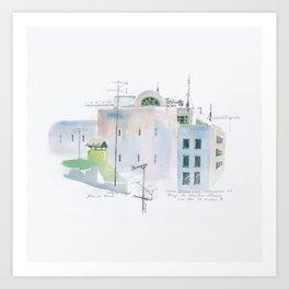 Lisbon Aquarelle No.3 Art Print