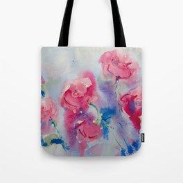 Roses in watercolor Tote Bag