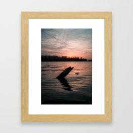 Sunset in Grafton IL Framed Art Print