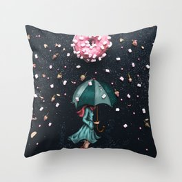 Sweet Rain Throw Pillow