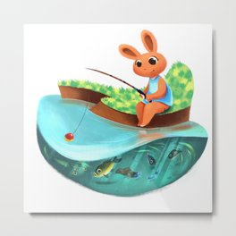 Fishing Jamboree Metal Print